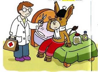 El burro enfermo