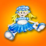 La muñeca vestida de azul